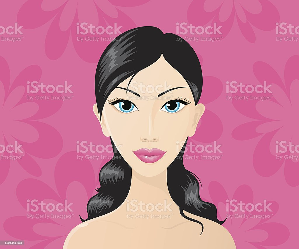 Beautiful brunette royalty-free stock vector art