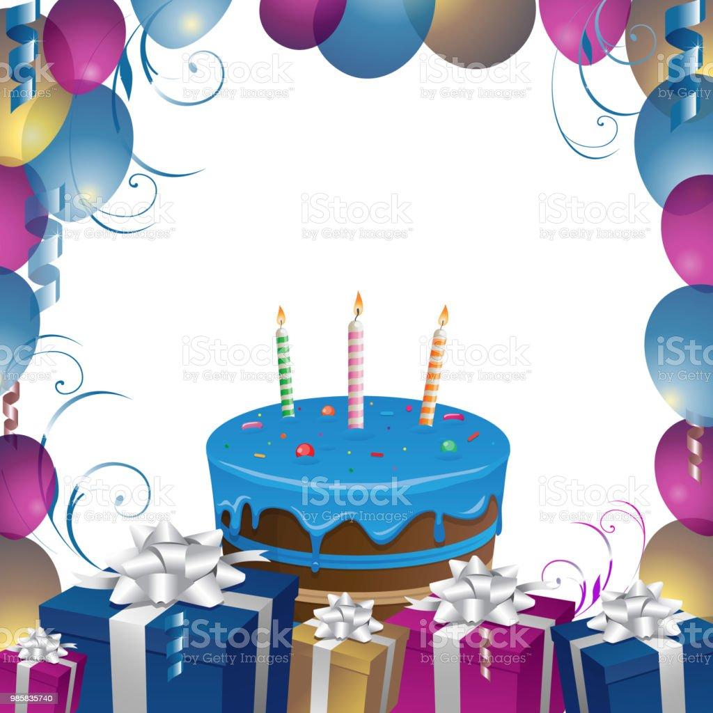 Schone Kuchen Und Geschenke Geburtstag Hintergrund