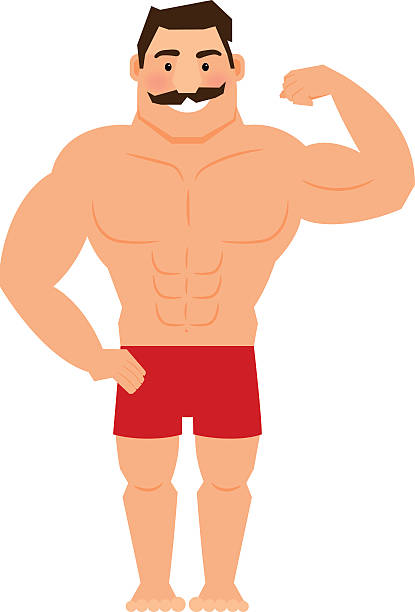 Royalty Free Flexing Muscles Clip Art Vector Images Illustrations