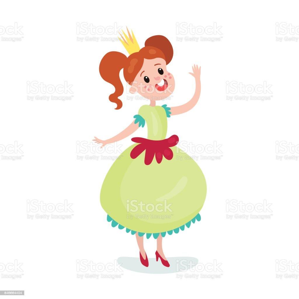Vetores De Personagem De Princesa Menina Bonito Dos Desenhos