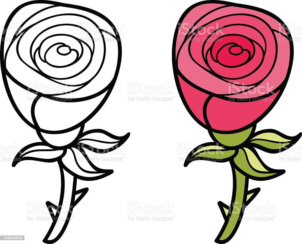 Ilustración De Hermosa Dibujos Animados Color Rosa Y Más Banco De
