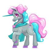 Beautiful cartoon unicorn