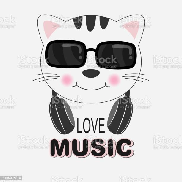 Beautiful cat in sunglasses love music greeting card vector id1139995210?b=1&k=6&m=1139995210&s=612x612&h=zicgu0t8dmtsngzvavor 1zqxjakl4ccza1xbhqz1dc=