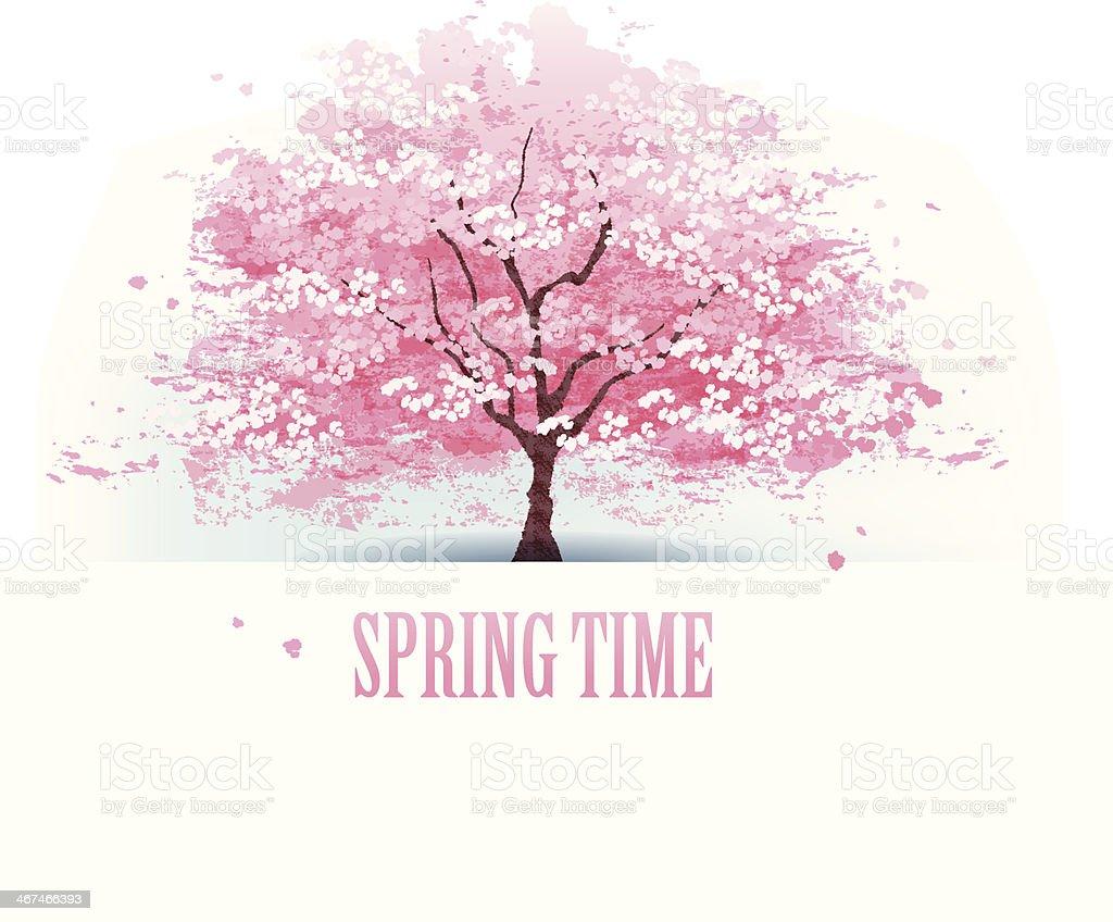 Beautiful Cherry Blossom Tree Stockvectorkunst En Meer Beelden Van