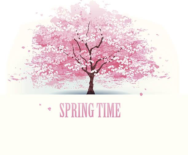 美しい桜の木 - 桜点のイラスト素材/クリップアート素材/マンガ素材/アイコン素材