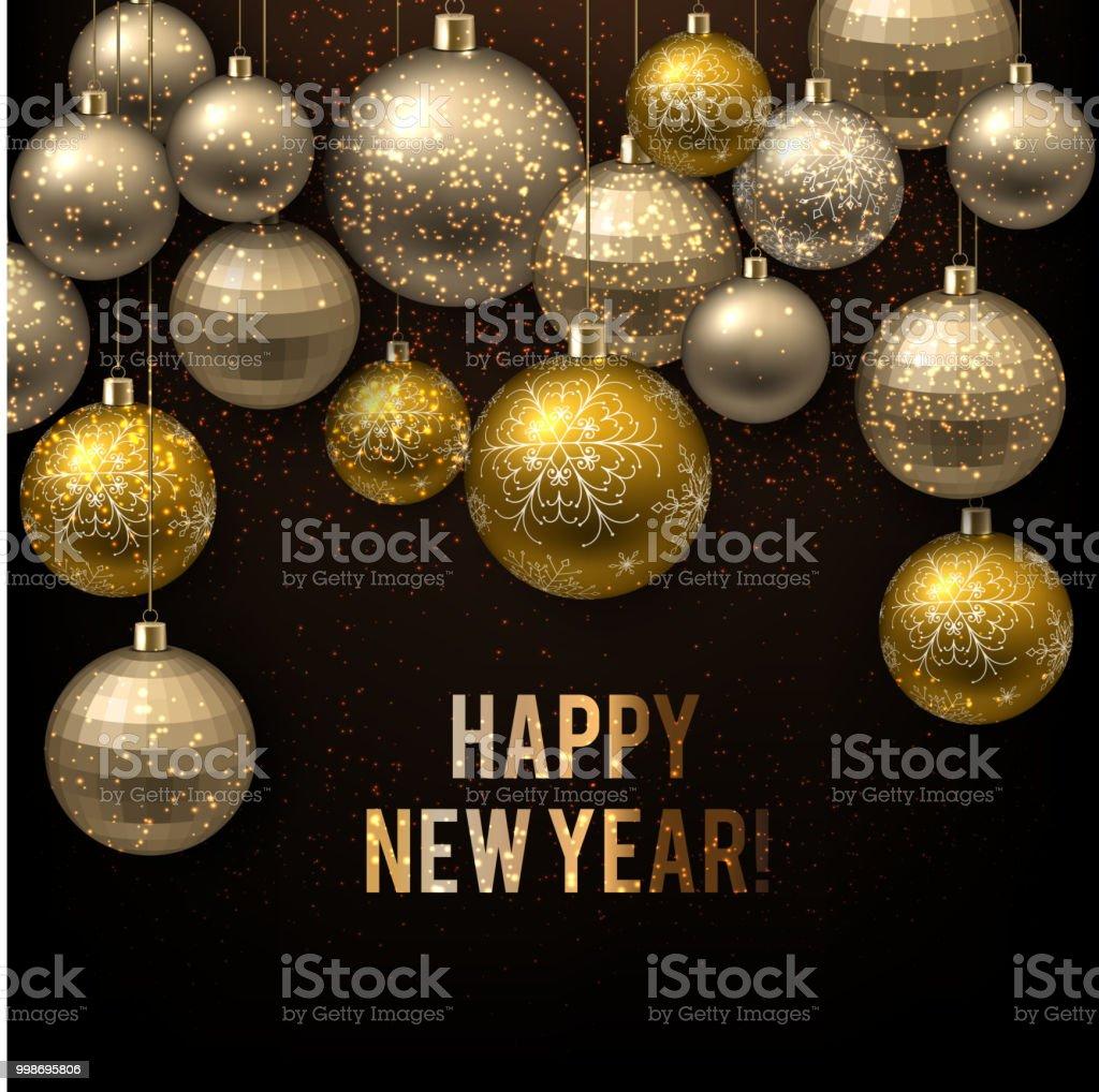 Beautiful Christmas Background Images.Beautiful Christmas Background With Golden Balls Golden Xmas