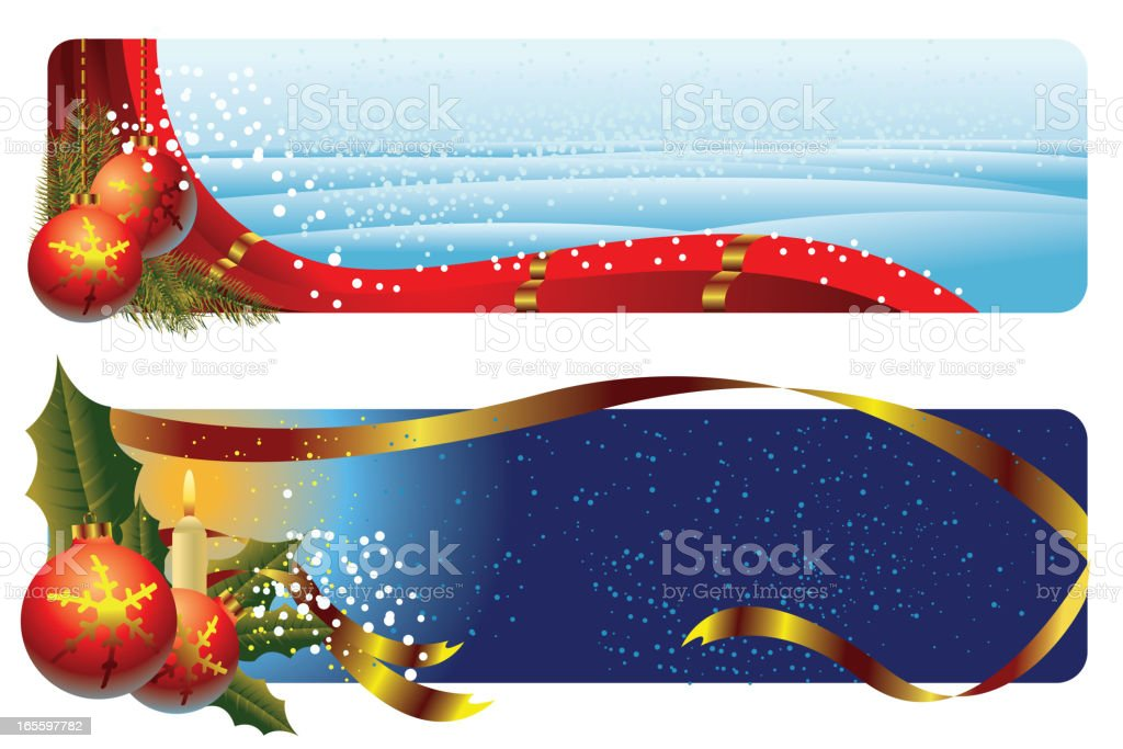 Beautiful Christmas Background/Banners royalty-free beautiful christmas backgroundbanners stock vector art & more images of backgrounds