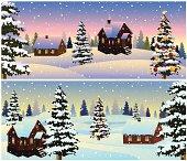 Beautiful Christmas Morning Landscape..
