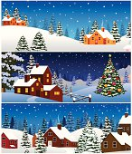 Beautiful Christmas Night Landscape..Please see some similar pictures from my portfolio: