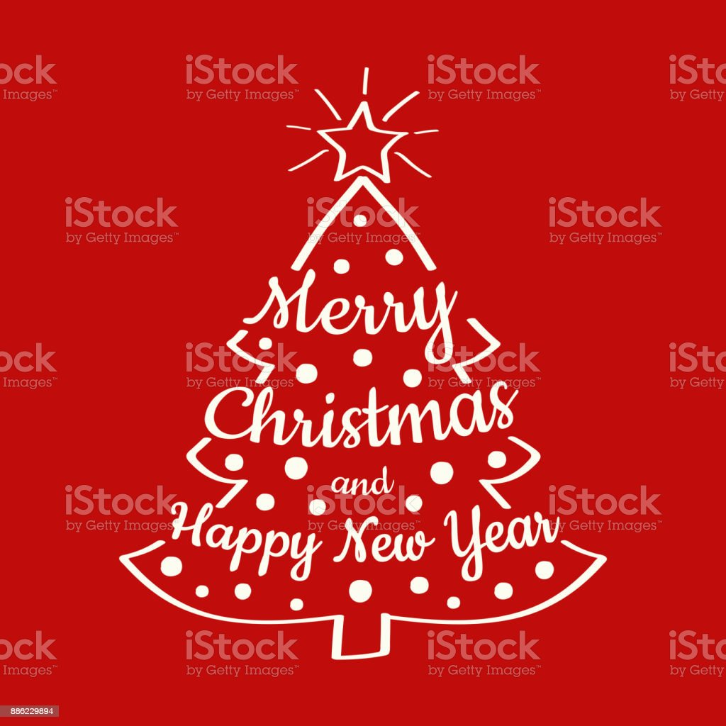beautiful christmas typography with decorations and wishes abstract christmas card vector royalty