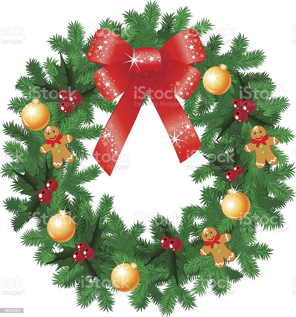 Beautiful christmas wreath royalty-free beautiful christmas wreath stock vector art & more images of art