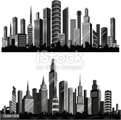 Beautiful City silhouettes.