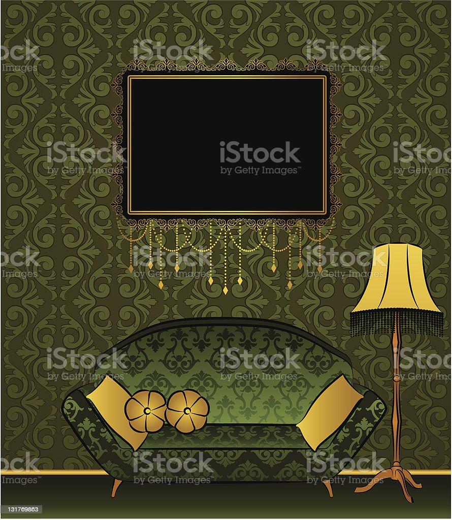 Beautiful classical interior for design. Vector royalty-free stock vector art