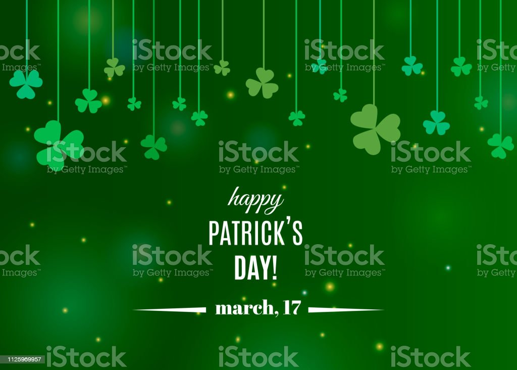 d288542b2 Beautiful clover shamrock leaves banner template for St. Patrick's day  design or greeting card royalty