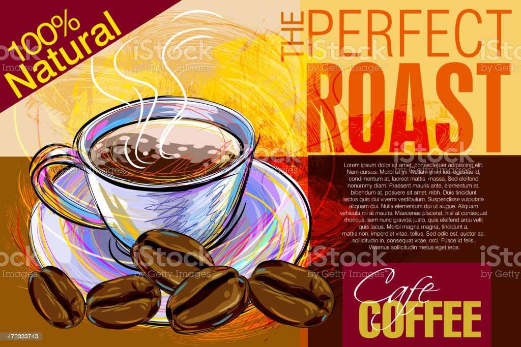 Beautiful Coffee background royalty-free beautiful coffee background stock vector art & more images of advertisement