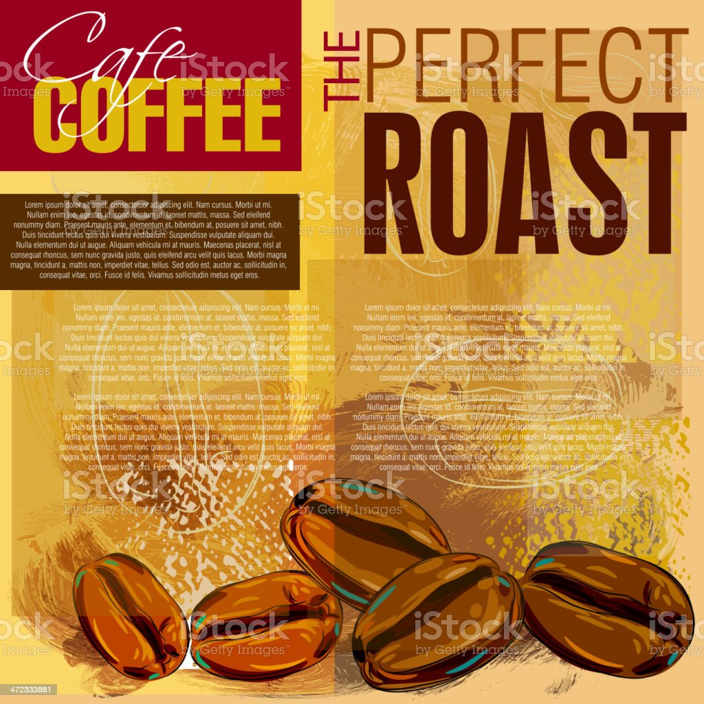 Beautiful Coffee background royalty-free stock vector art