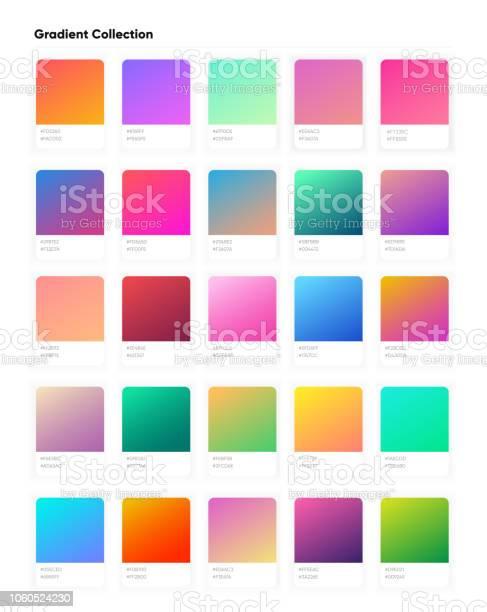 Beautiful Color Gradient Collection Gradients Template For Your Design Trendy Modern Soft Gradients For Mobile And Web Design - Arte vetorial de stock e mais imagens de Abstrato