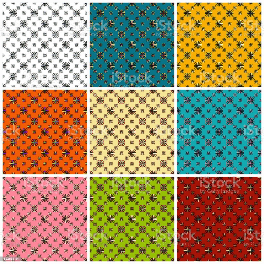 beautiful colored seamless pattern collection of vector illustration vector art illustration