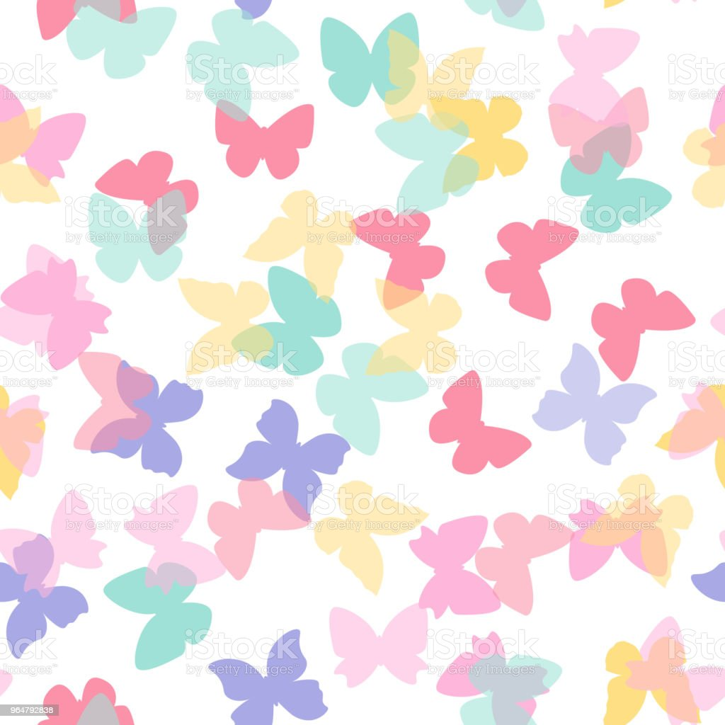 Beautiful colorful butterflies seamless pattern royalty-free beautiful colorful butterflies seamless pattern stock vector art & more images of art