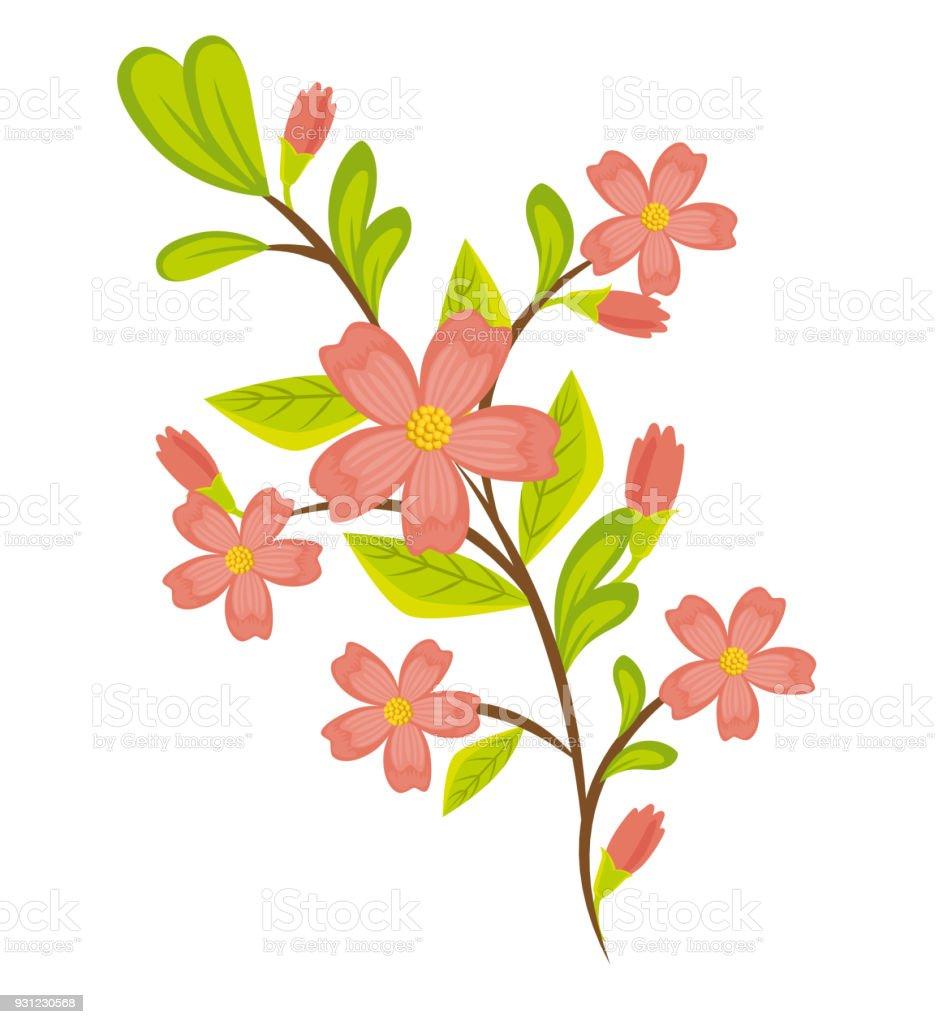 Vetores De Desenho De Lindas Flores Coloridas E Mais Imagens De