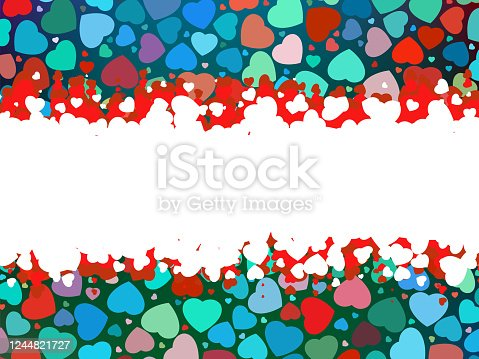 Beautiful colorful heart shape background. EPS 8 vector file included