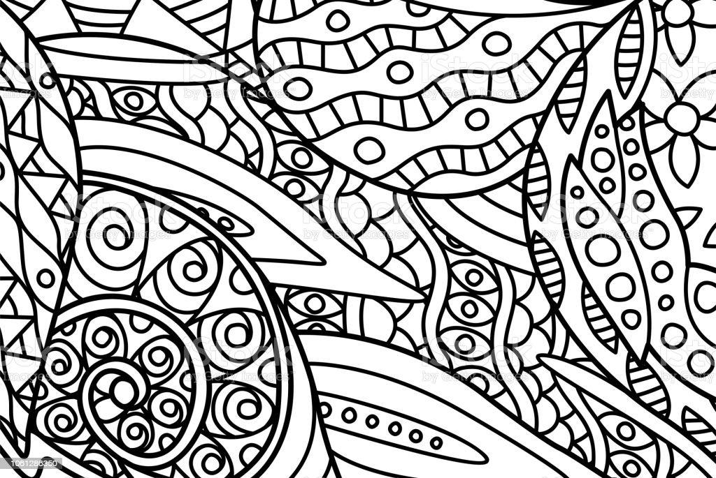 Ilustración de Hermosa Página De Libro Con Arte Abstracto Para ...