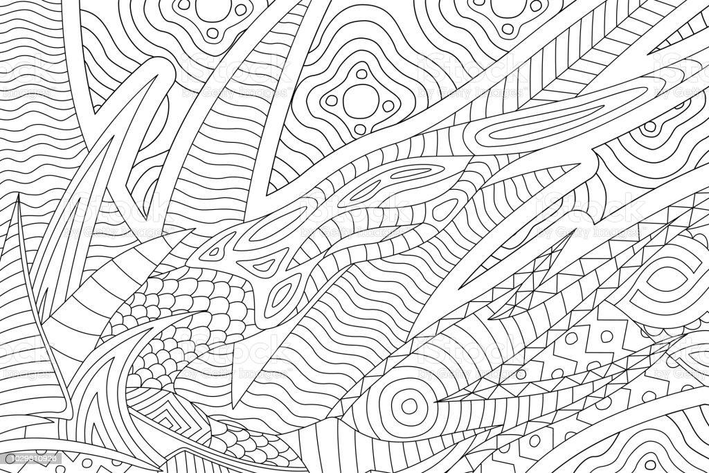 Ilustración de Hermosa Página De Libro Con Patrón Abstracto Para ...