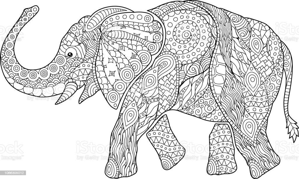 Olifant Kleurplaten Zoeken.Mooie Kleurplaat Fotoboekpagina Met Cartoon Olifant