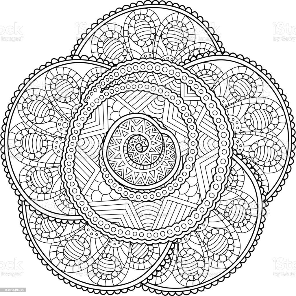 Güzel çiçek Sanatı Ile Kitap Sayfa Boyama Stok Vektör Sanatı