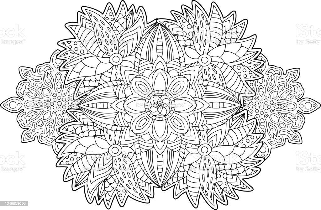Ilustración de Hermosa Página De Libro Con Arte Floral Para Colorear ...