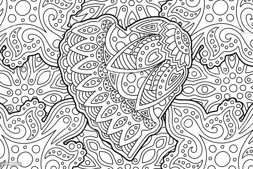Ilustración de Hermosa Página De Libro Con Forma De Corazón Para ...