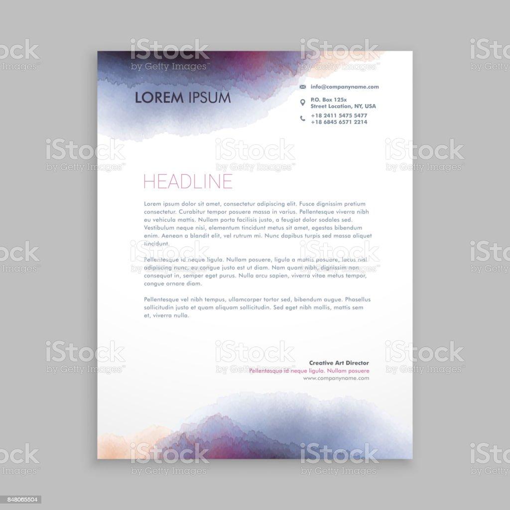 Schöne Kreative Briefkopf Vorlage Vektordesignillustration Stock ...