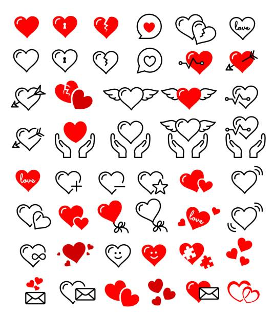 Royalty Free Never Ending Love Red Infinity Hearts Vector Set Clip