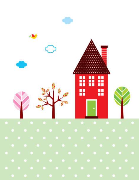 schöne süße Haus Wallpaper Vektor – Vektorgrafik