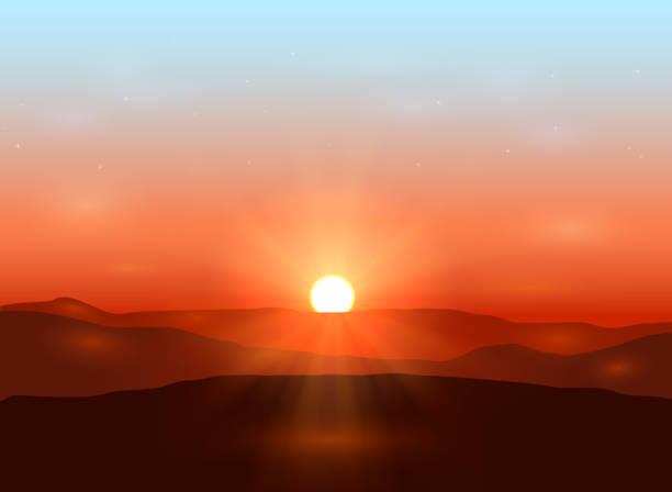 beautiful dawn - sunrise stock illustrations, clip art, cartoons, & icons