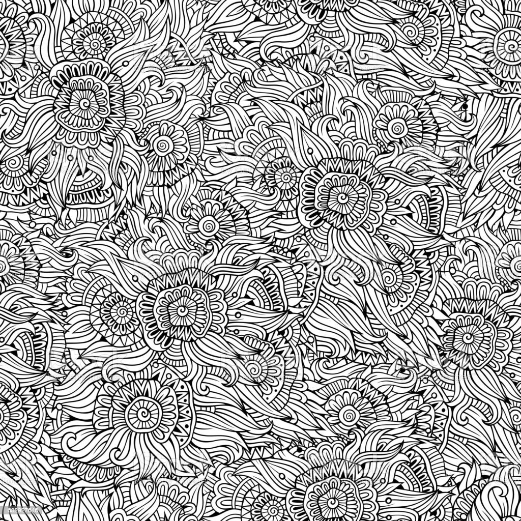 Beautiful decorative floral seamless pattern royalty-free beautiful decorative floral seamless pattern stock vector art & more images of abstract