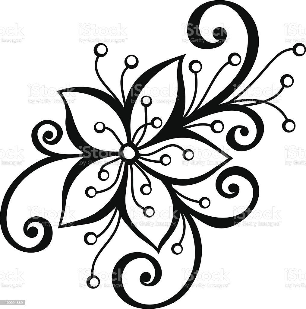 Hermosas flores decorativas arte vectorial de stock y - Fotos decorativas ...