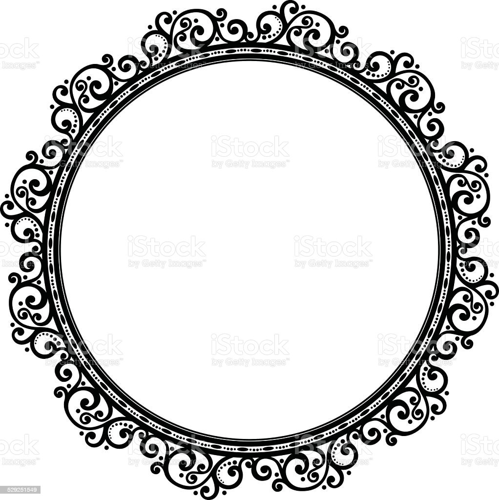 Beautiful Decorative Round Frame Stock Vector Art & More Images of ...