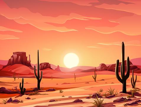 Beautiful Desert Sunset