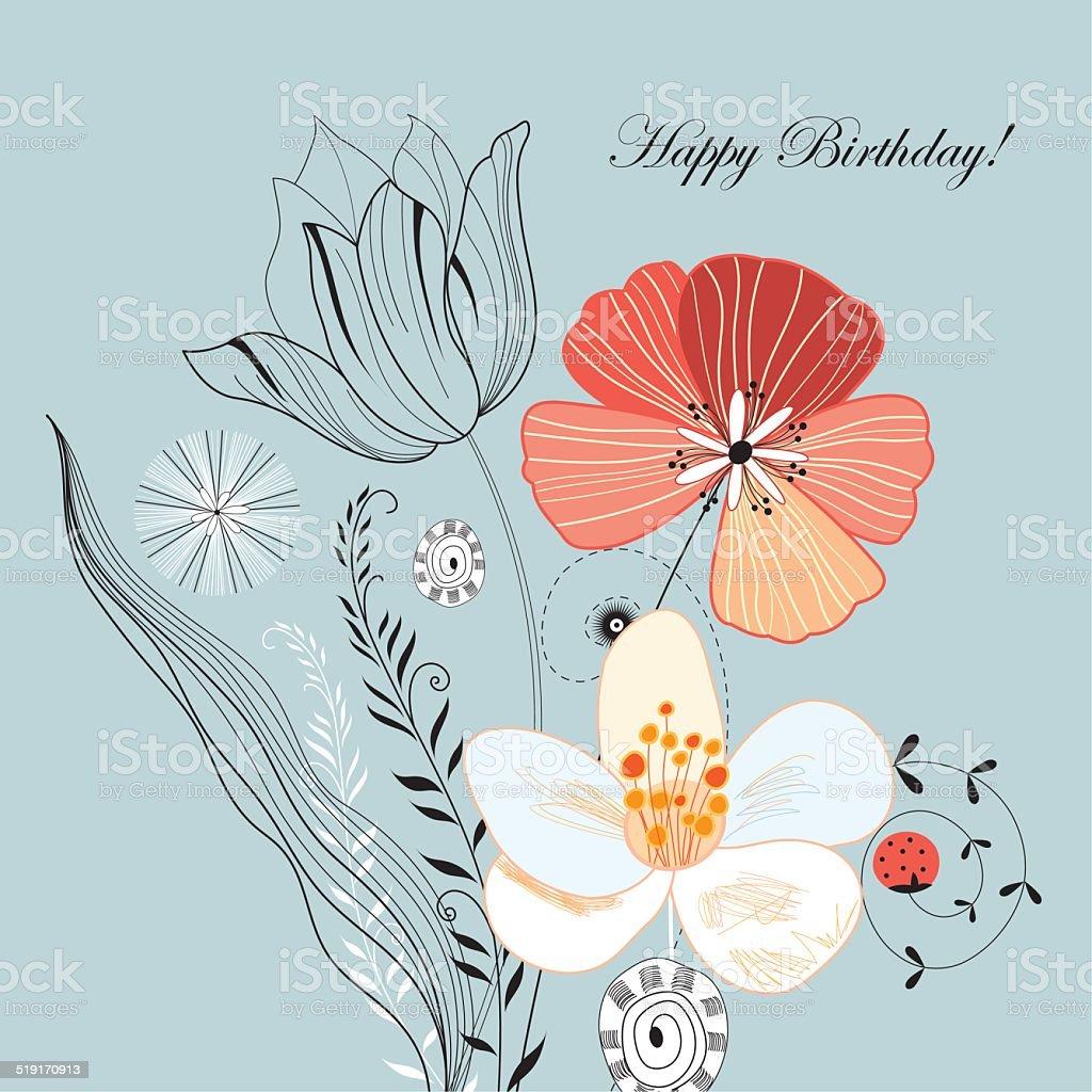 Beautiful designs of flowers and birds stock vector art more beautiful designs of flowers and birds royalty free beautiful designs of flowers and birds stock izmirmasajfo