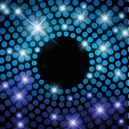 Beautiful disco background with round lights vector