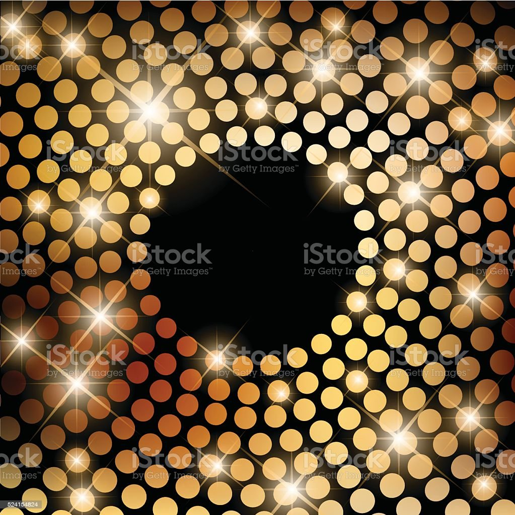 Beautiful disco background with round lights vector vector art illustration