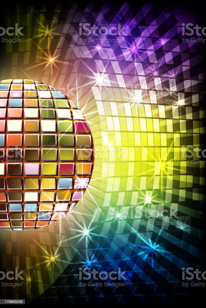 Beautiful Disco ball with Splashy Lights royalty-free stock vector art