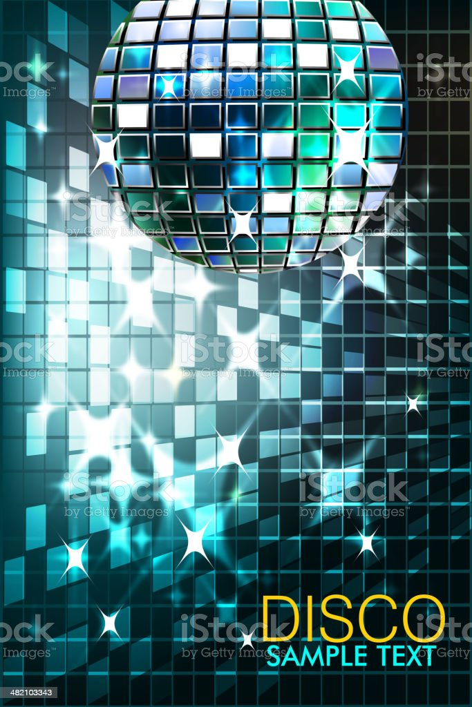 Beautiful Disco ball with Splashy Lights royalty-free beautiful disco ball with splashy lights stock vector art & more images of abstract
