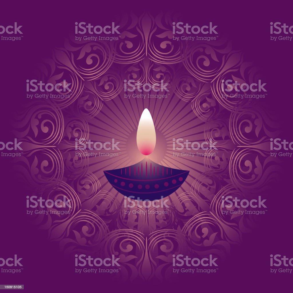 Beautiful Diwali Background vector art illustration