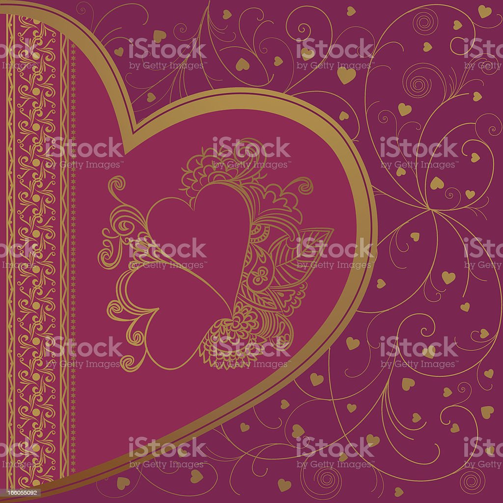 Beautiful Doodle Valentine Background royalty-free stock vector art