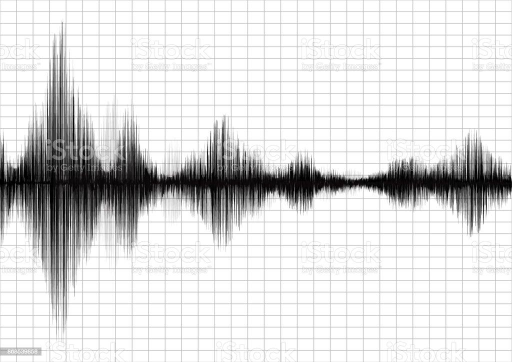 Schöne Erdbeben Diagramm Diagramm Ein Seismograph Audio ...