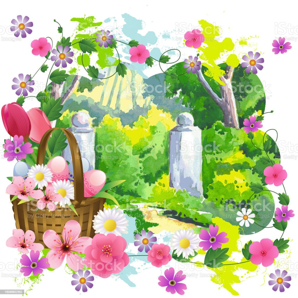 Beautiful Easter Background royalty-free stock vector art
