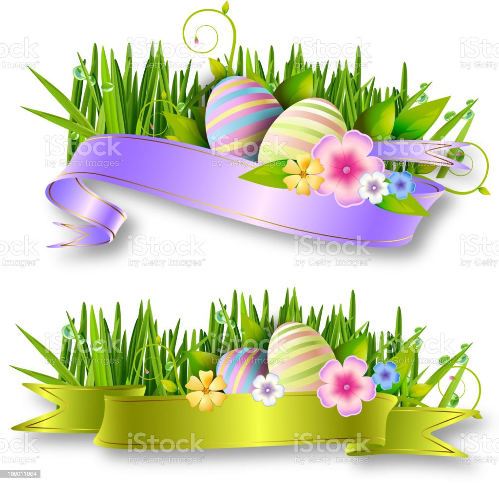 Beautiful Easter Banners royalty-free stock vector art