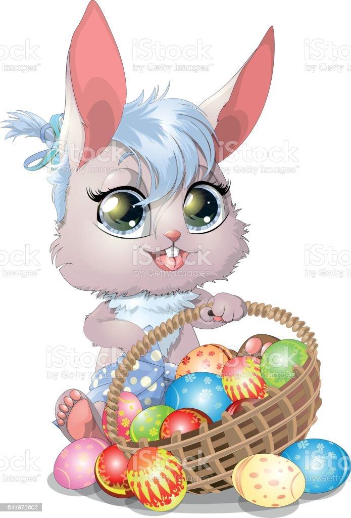 Schöne Ostern Bunny Stock Vektor Art Und Mehr Bilder Von Ausmalen